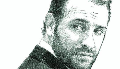 Portrait Jean Dujardin - dessin numérique d'après photo