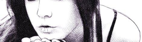 portrait numérique au crayon, par audren le rioual