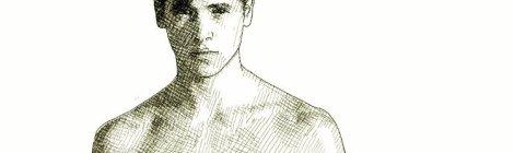 Hot young man (ink drawing)
