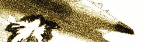 Dessin à l'encre représentant un crayon à papier