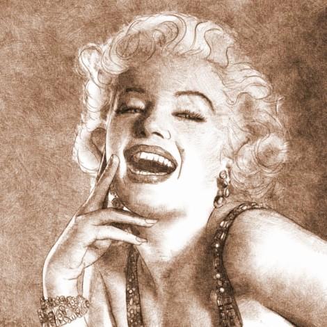 Marilyn Monroe - dessin numérique au crayon par audren