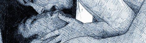 amants baiser joymii dessin encre