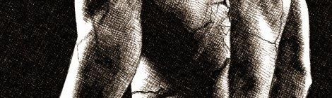 dos musclé homme - fissures - dessin numérique à l'encre