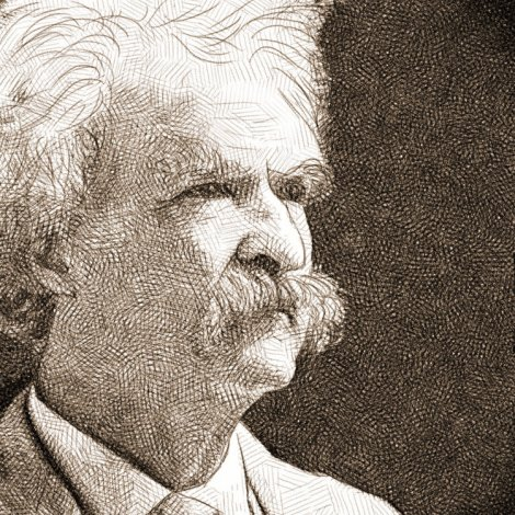 portrait de Mark Twain