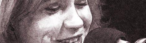 portrait numérique au crayon, Océane Rose Marie, à l'antenne sur France Inter