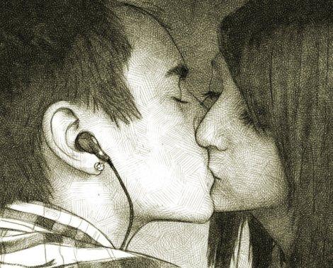 baiser adolescents