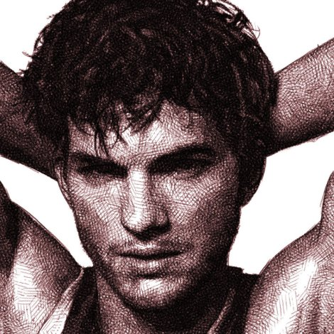 ashton kutcher - digital pencil drawing by audren