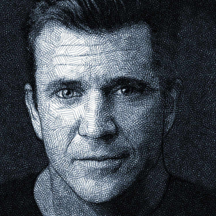 Mel Gibson - digital pencil portrait