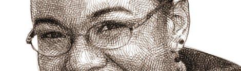 Portrait crayon Meta Tschiteya par Audren