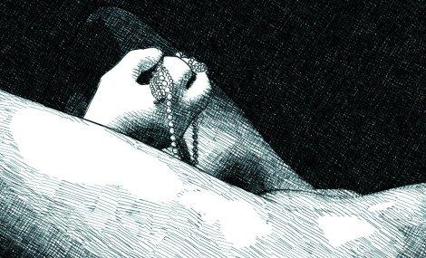 L'affiche des rêveries (étonnamment dans le ton des illustrations d'ici, d'ailleurs)