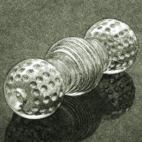 Dessin numérique au crayon d'un masturbateur polymère transparent non-anatomique