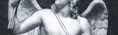 drawing of a statue of Cupid