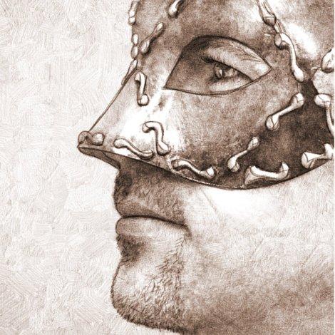 masque vénitien - dessin numérique au crayon avec gimp et mypaint