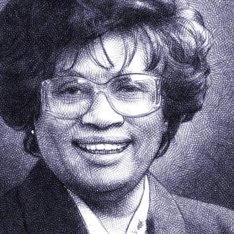 Jocelyn Elders - digital pencil portrait