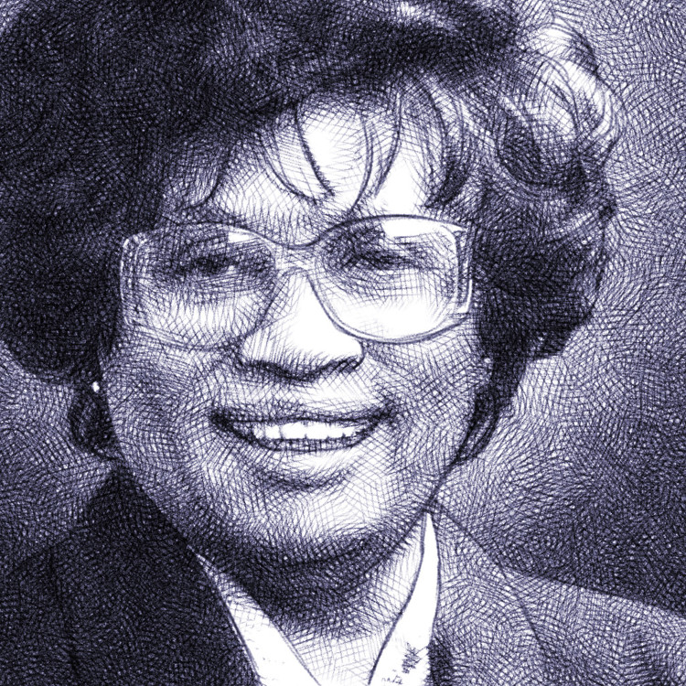 Jocelyn Elders - digital pencil portrait
