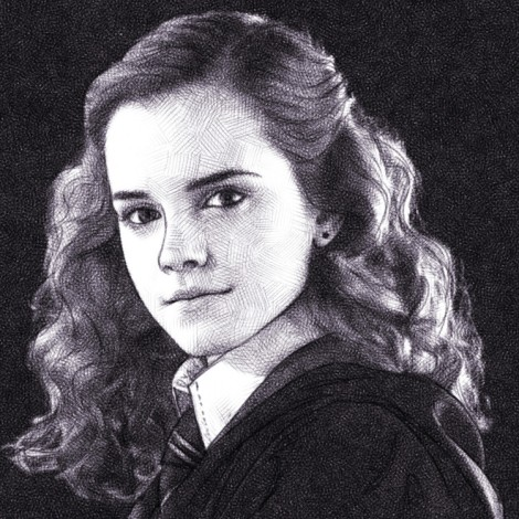 hermione granger / emma watson / digital pencil drawing
